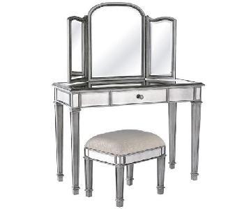Pier 1 Hayworth Silver Mirror & Vanity Set