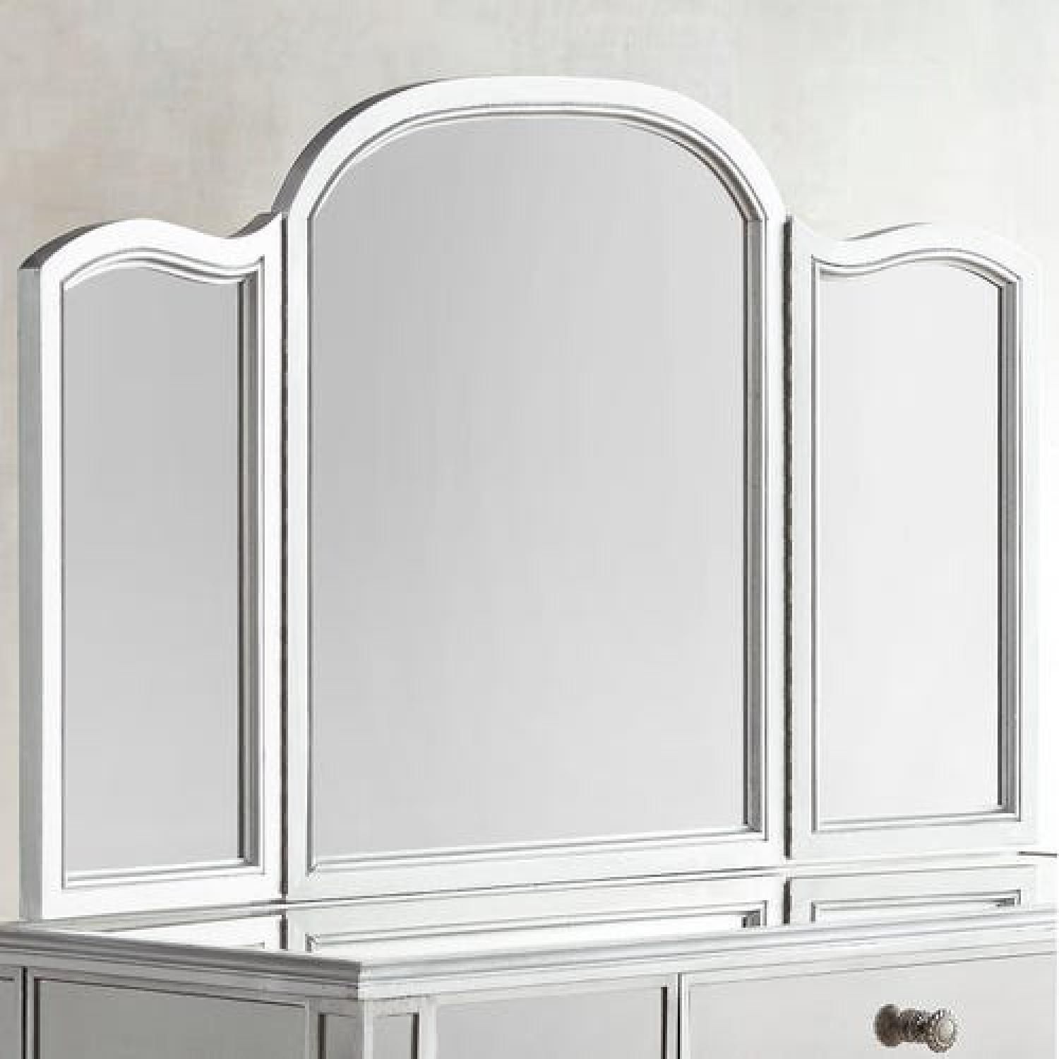 Pier 1 Hayworth Silver Mirror & Vanity Set - image-1