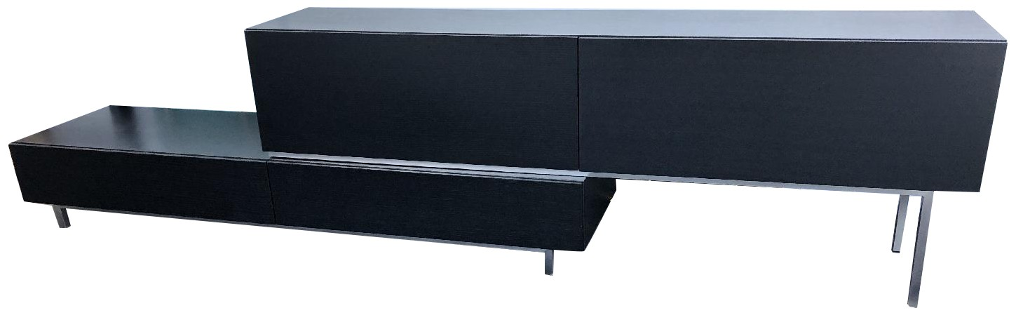 BoConcept Black Stained Oak Media Console w/ Drawers