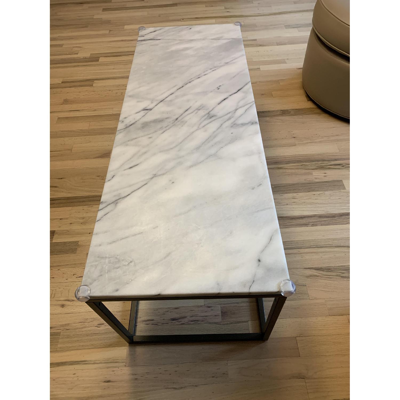 West Elm Streamline Coffee Table W Marble Top Aptdeco