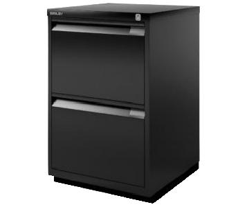 Bisley 2 Drawer Filing Cabinet on Casters