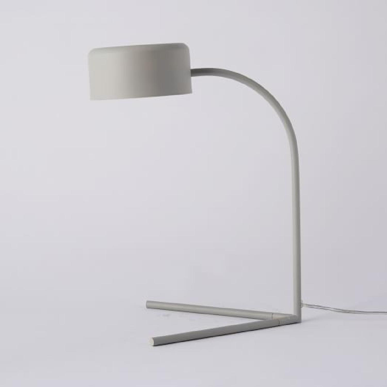 West Elm Grey Metal Modern Task/Table Lamp - image-1