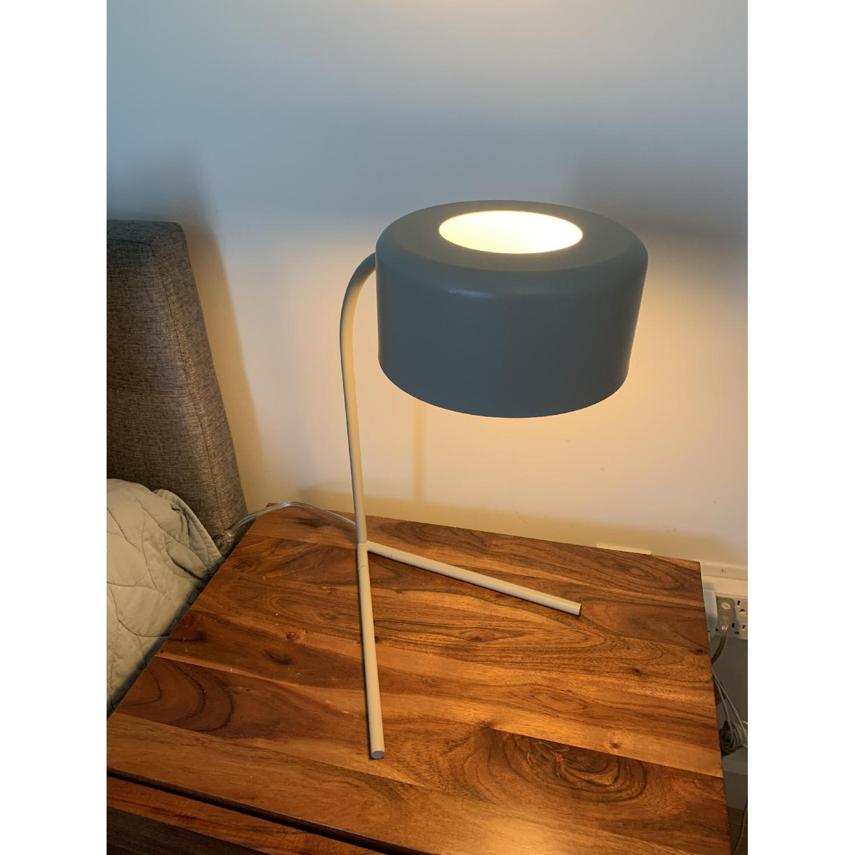 West Elm Grey Metal Modern Task/Table Lamp - image-2
