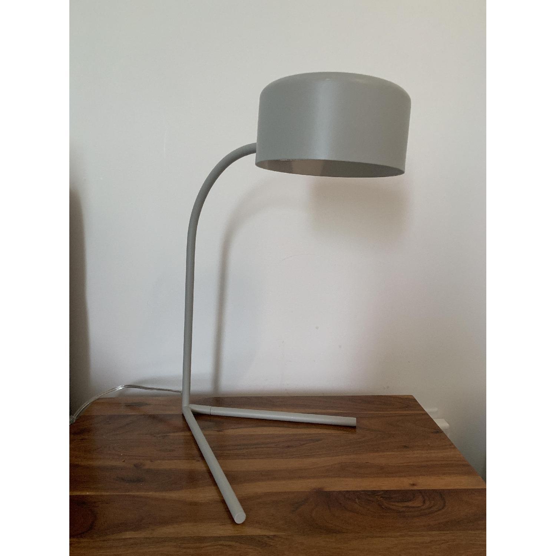 West Elm Grey Metal Modern Task/Table Lamp - image-4