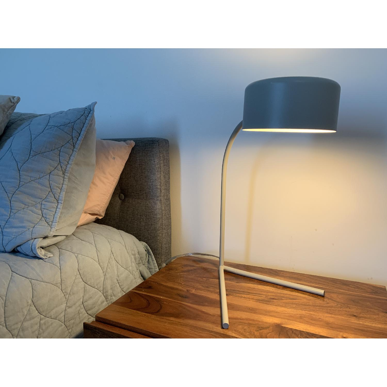 West Elm Grey Metal Modern Task/Table Lamp - image-5