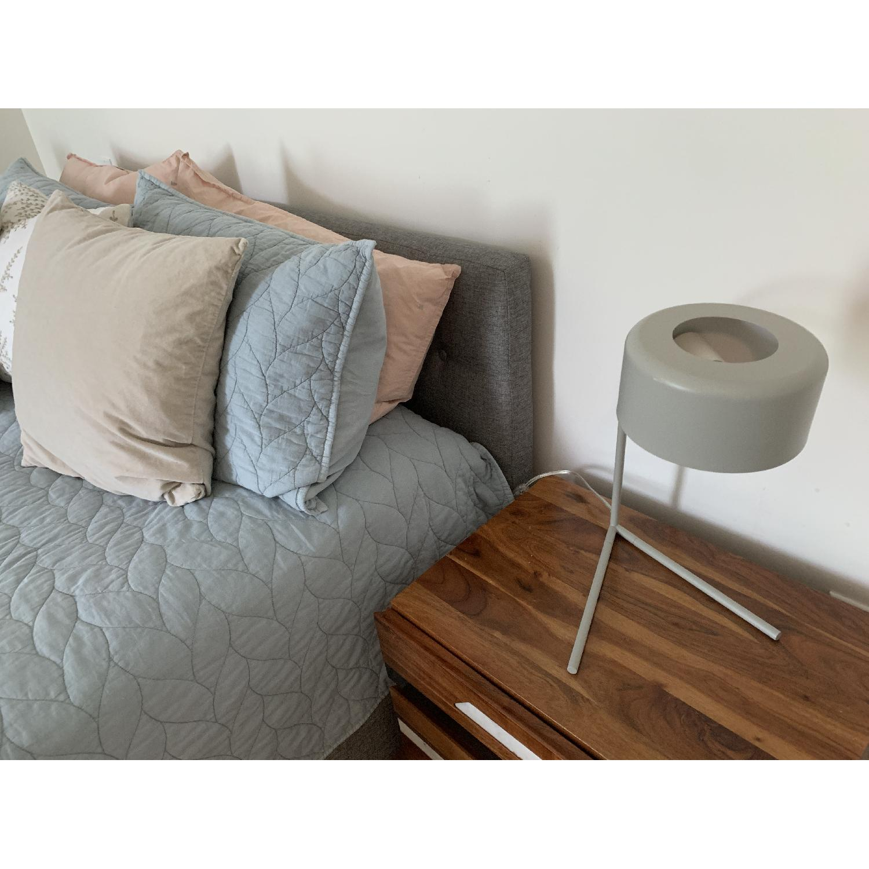 West Elm Grey Metal Modern Task/Table Lamp - image-6