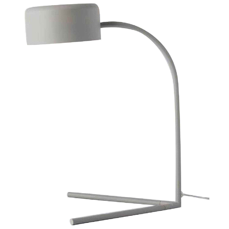 West Elm Grey Metal Modern Task/Table Lamp - image-0
