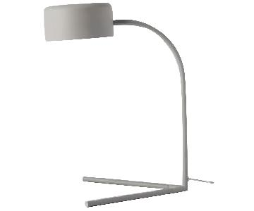 West Elm Grey Metal Modern Task/Table Lamp