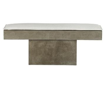 CB2 Fuze Grey Bench & Cushion