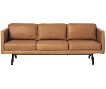 West Elm Brooklyn Down-Filled Leather Sofa