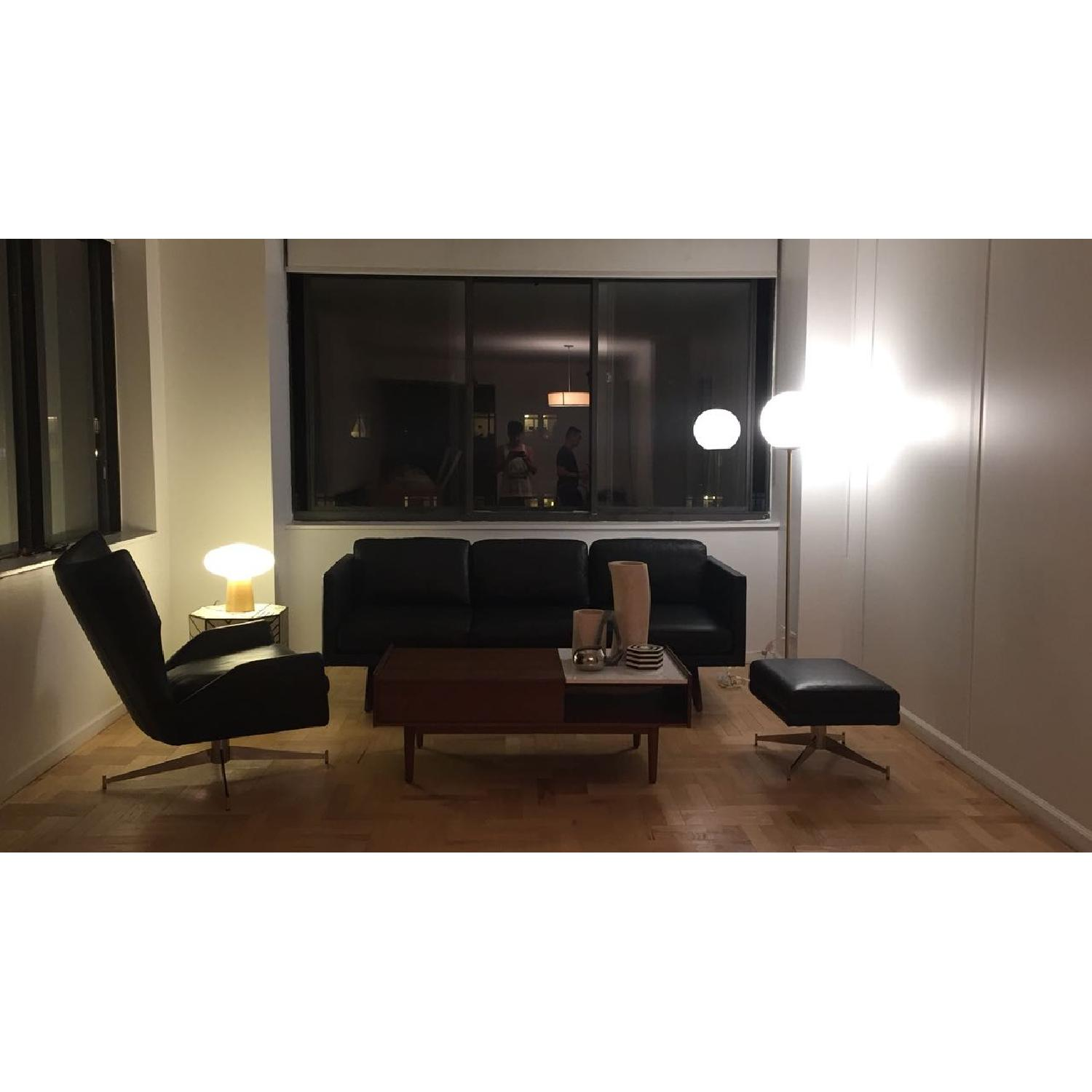 West Elm Brooklyn Down-Filled Leather Sofa - image-1