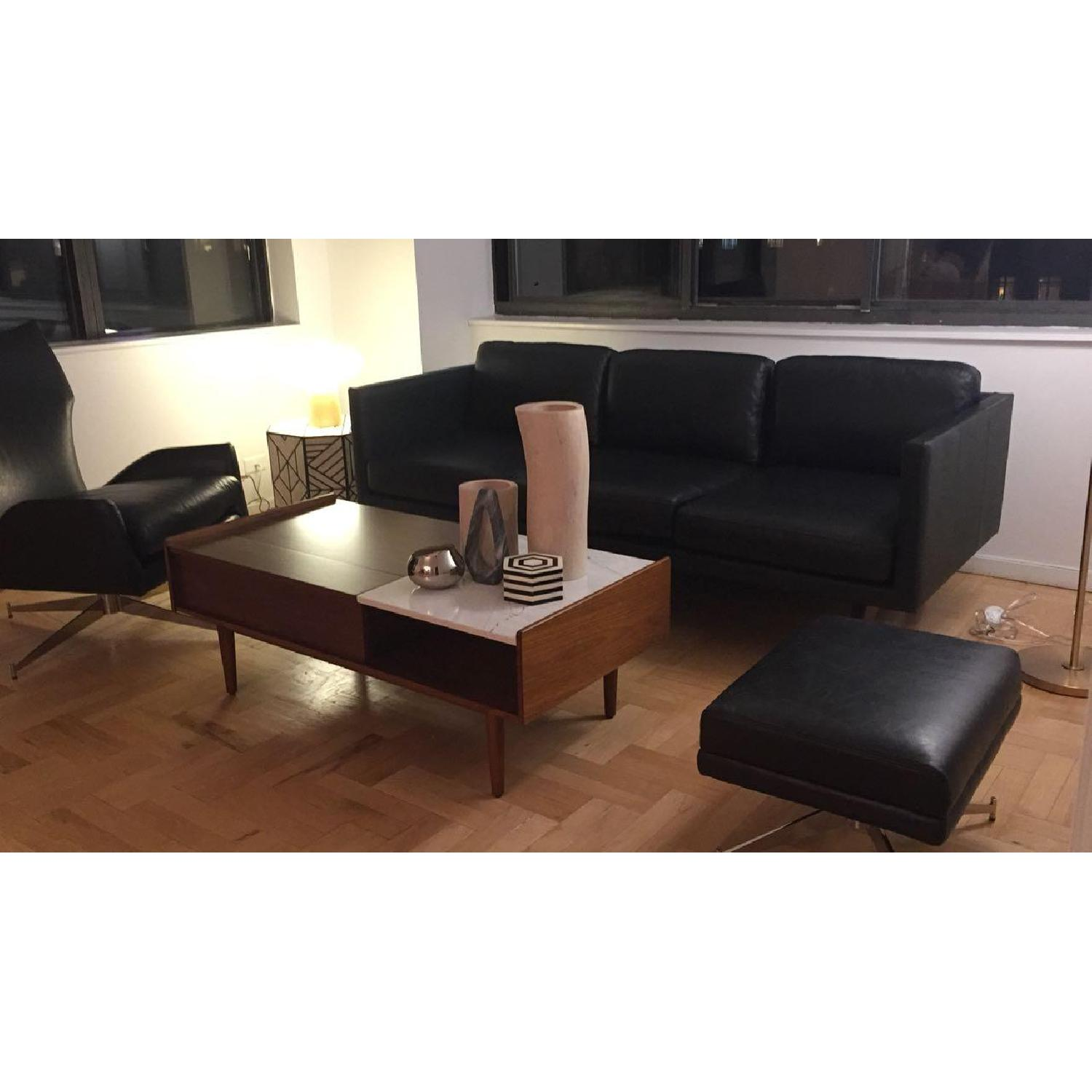 West Elm Brooklyn Down-Filled Leather Sofa - image-2