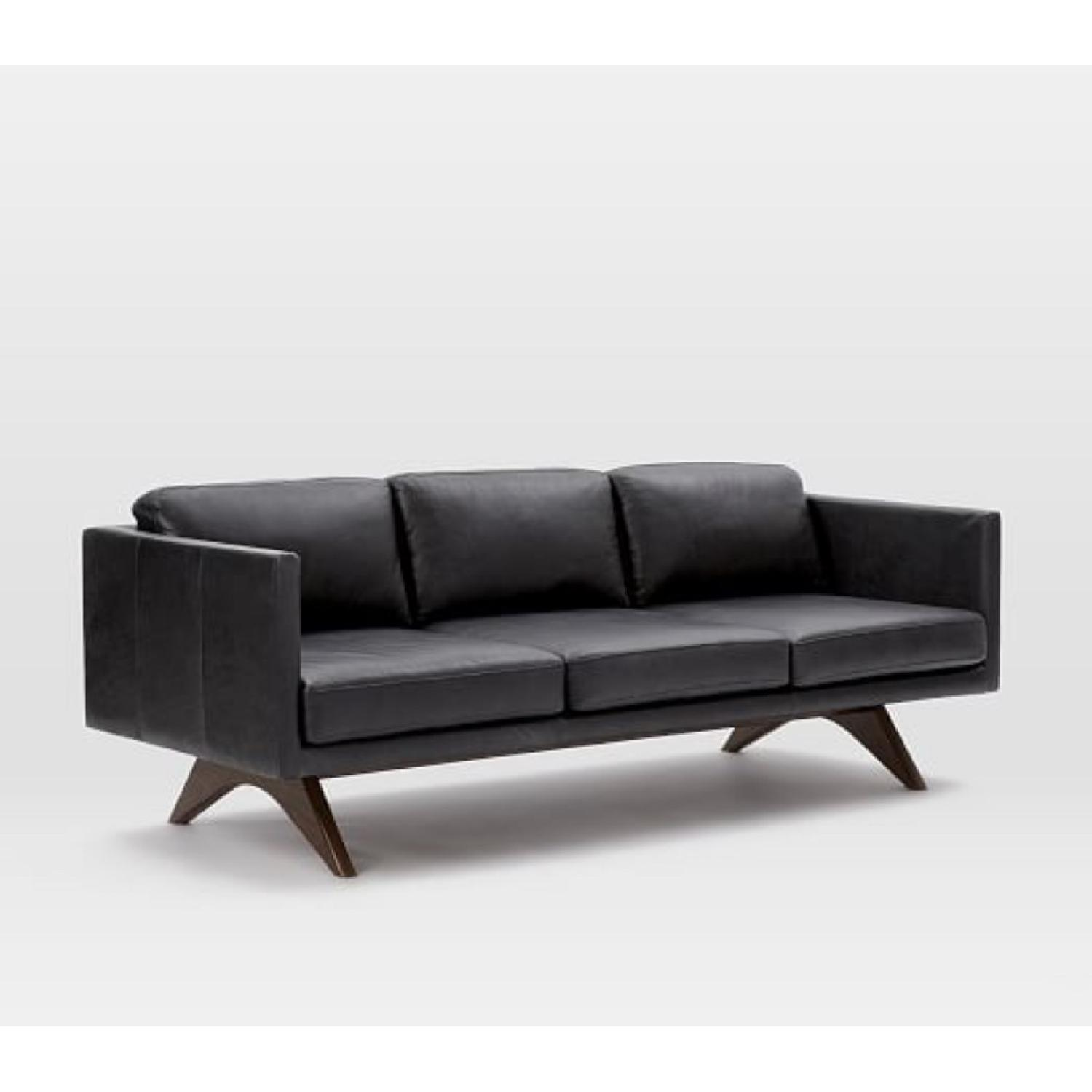 West Elm Brooklyn Down-Filled Leather Sofa - image-0
