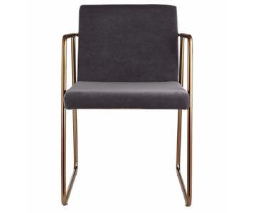 CB2 Rouka Grey Dining Chair