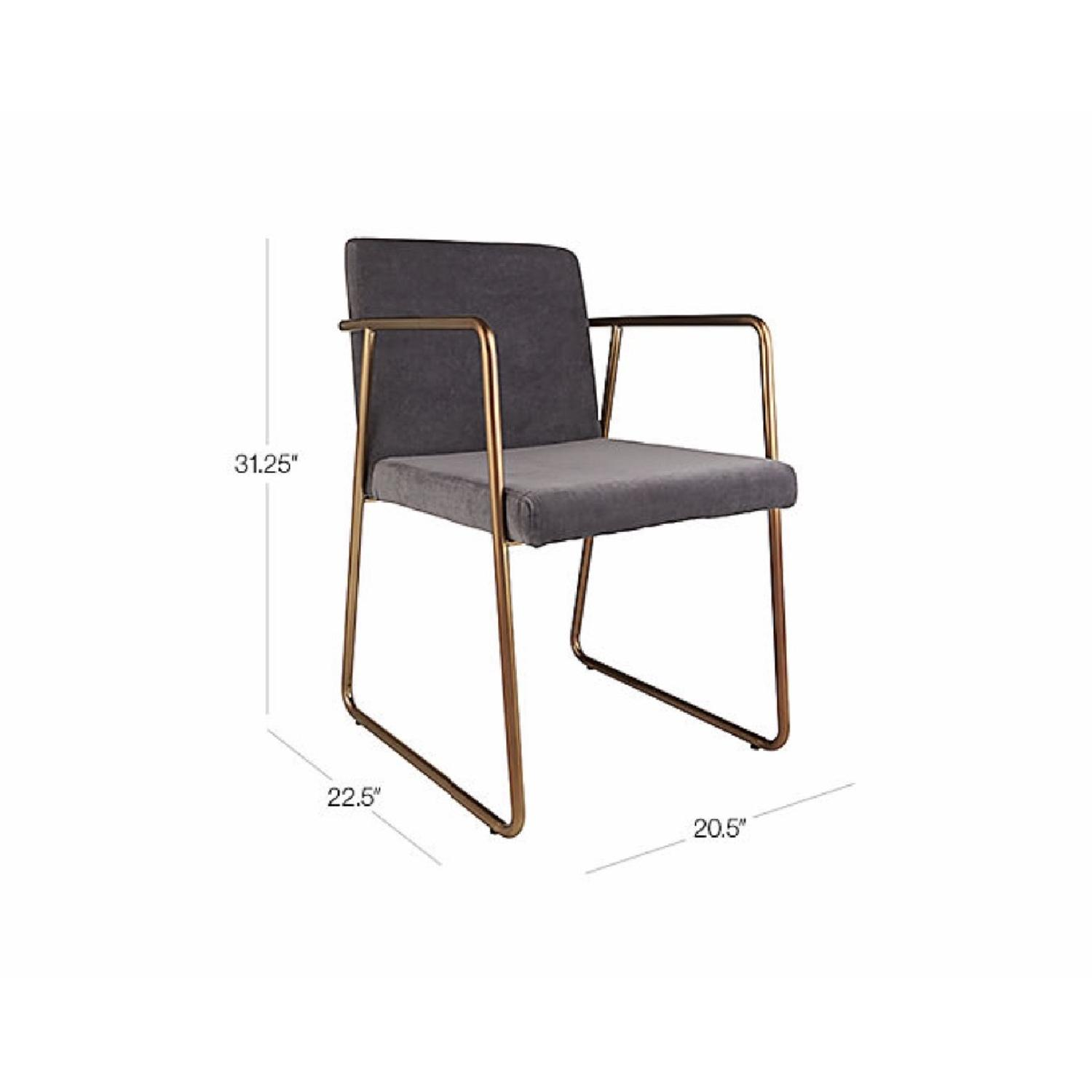 CB2 Rouka Grey Dining Chair