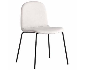 CB2 Primitivo White Chair