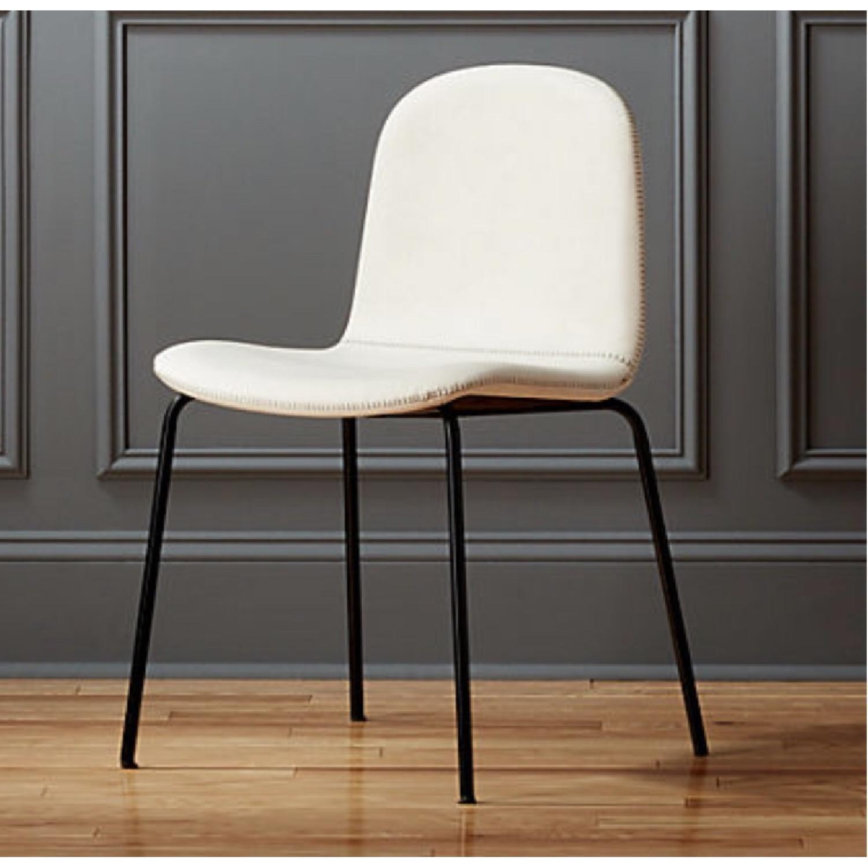 CB2 Primitivo White Chair-1