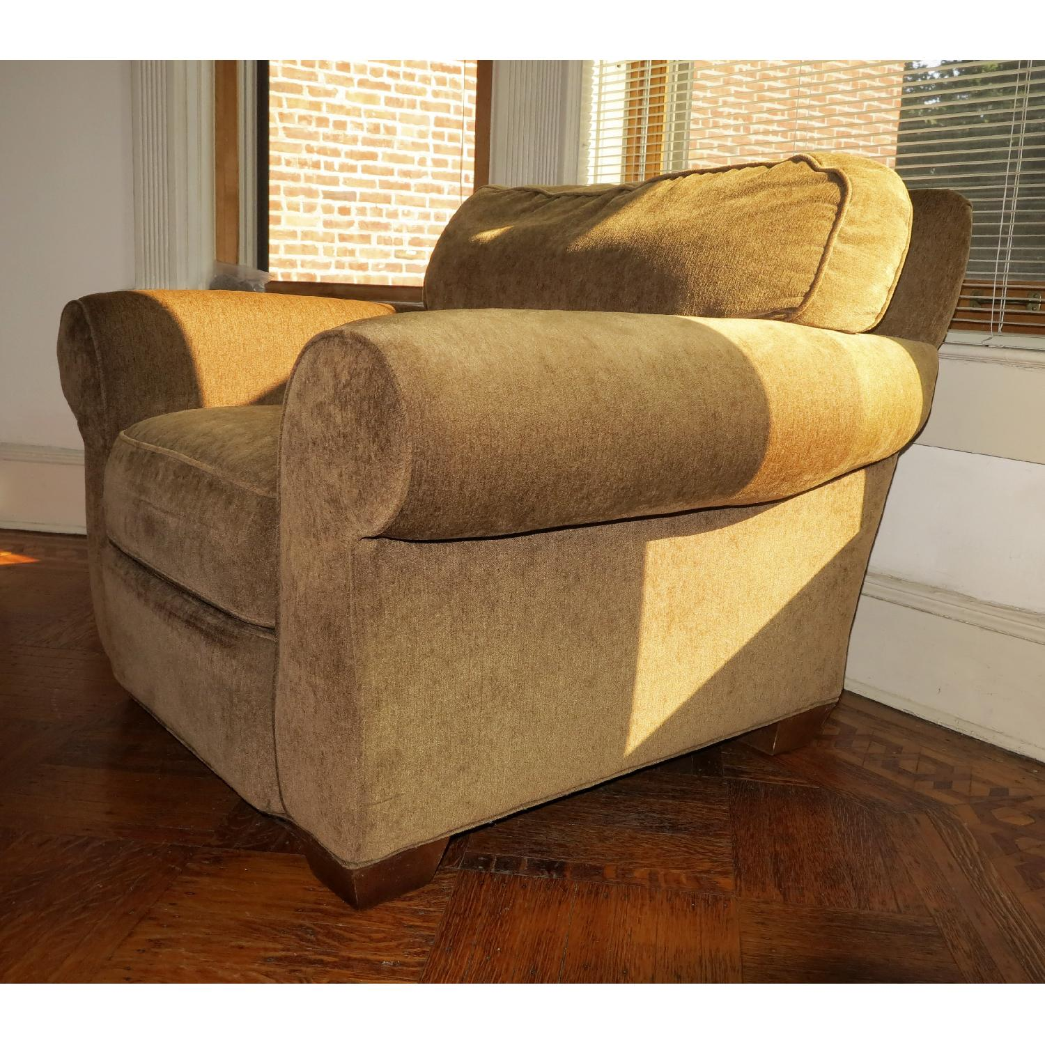 Lee Industries Handcrafted Armchair & Ottoman - image-1