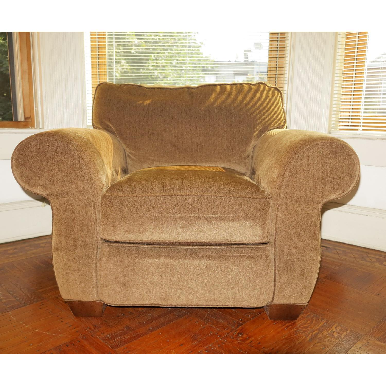Lee Industries Handcrafted Armchair & Ottoman - image-2