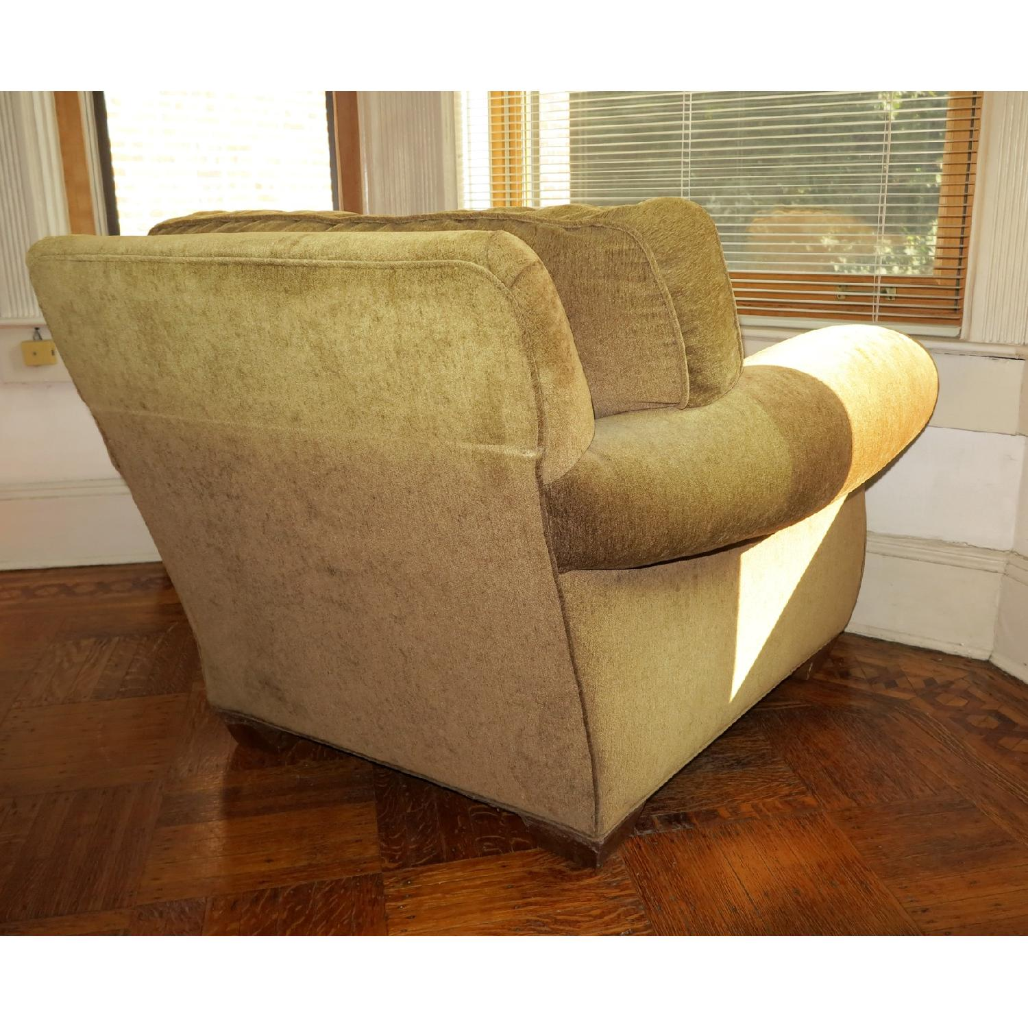 Lee Industries Handcrafted Armchair & Ottoman - image-3