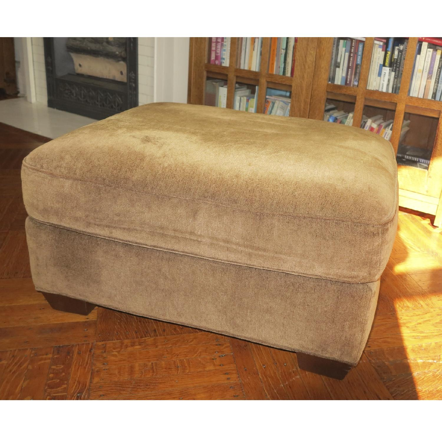 Lee Industries Handcrafted Armchair & Ottoman - image-4