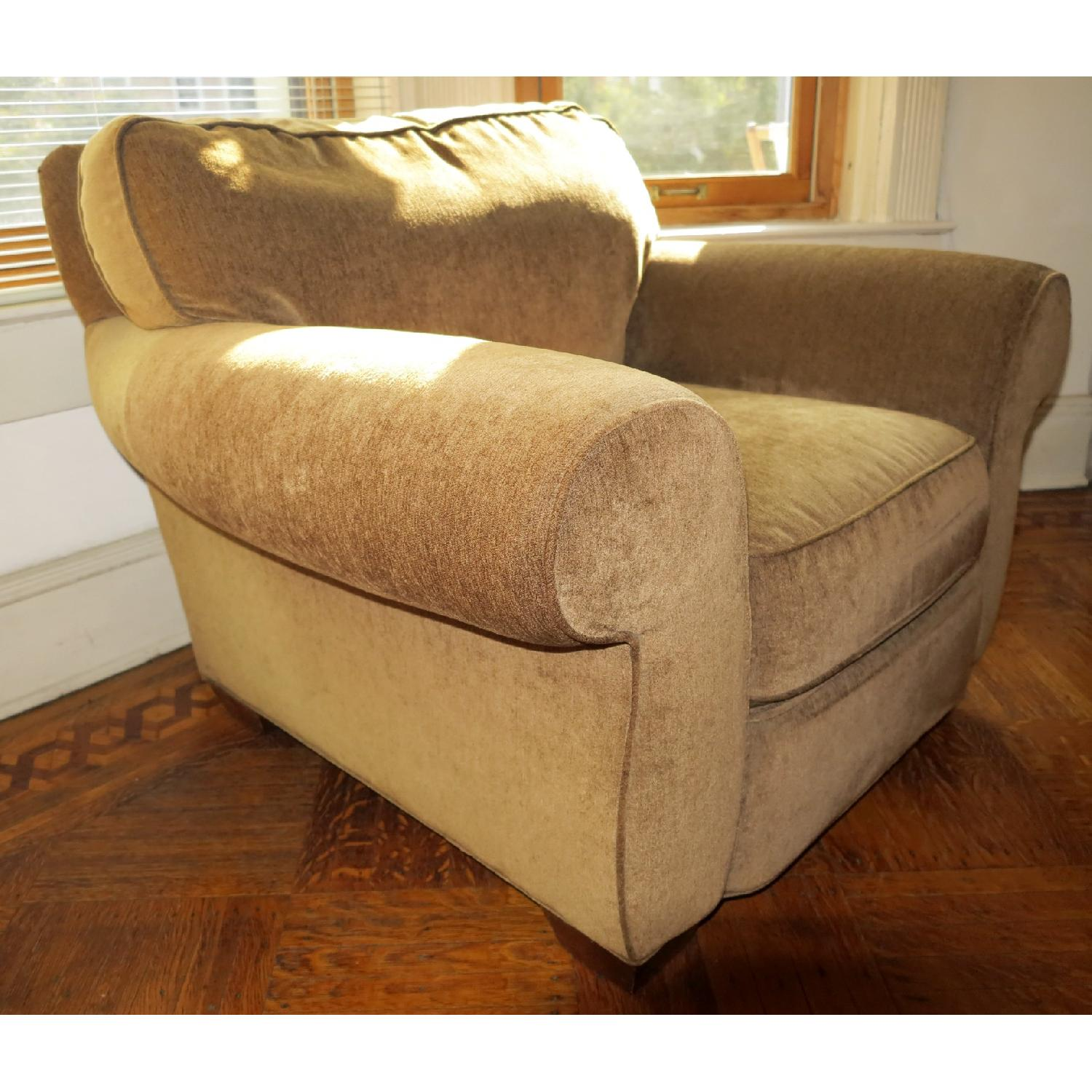 Lee Industries Handcrafted Armchair & Ottoman - image-5