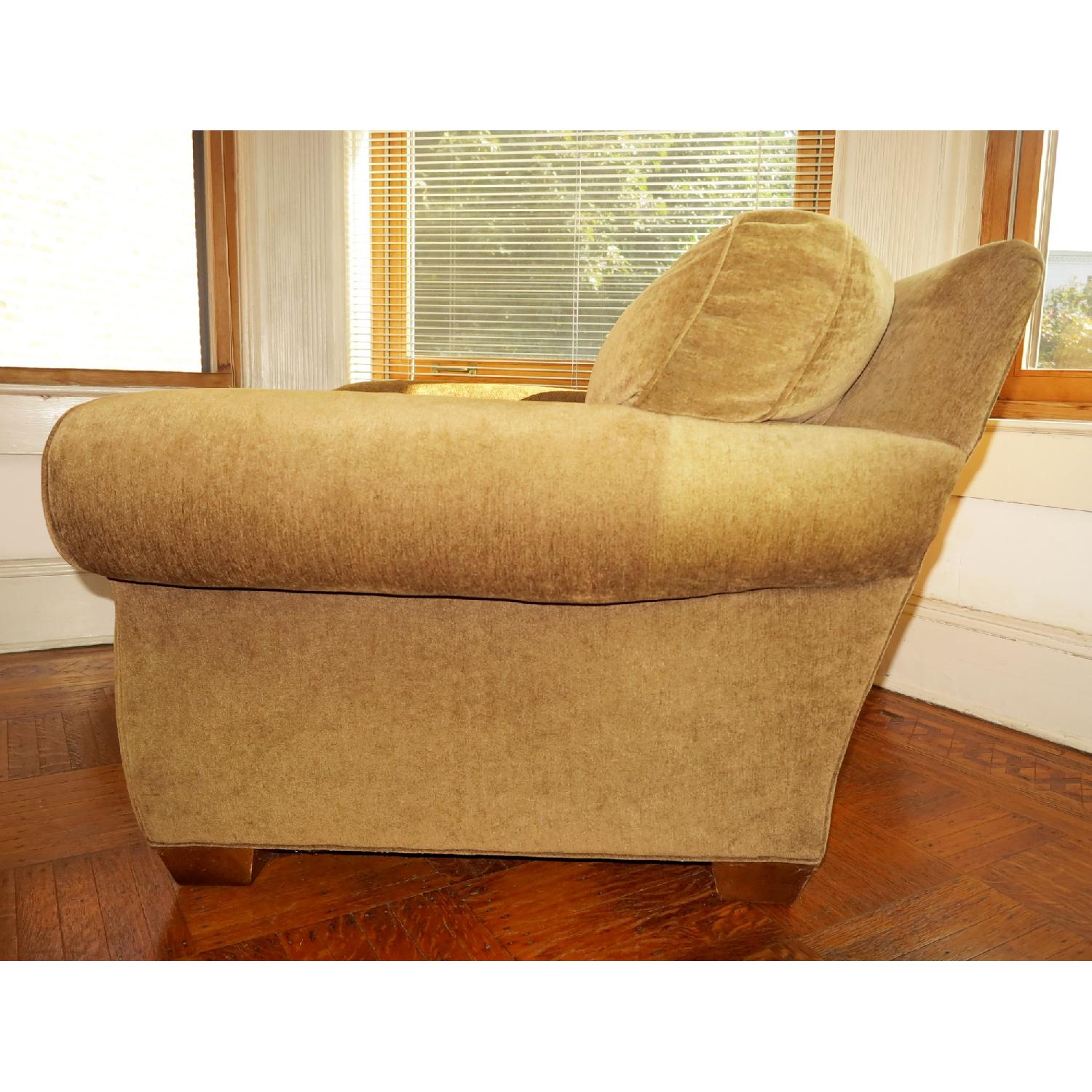 Lee Industries Handcrafted Armchair & Ottoman - image-6