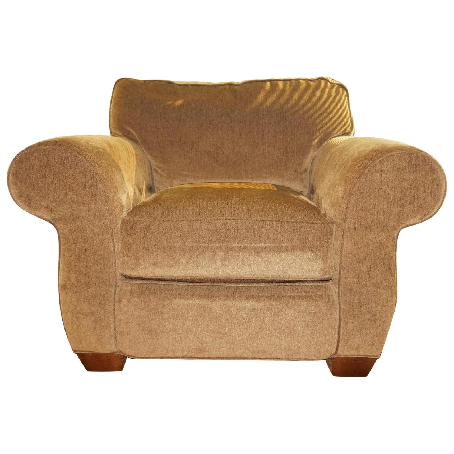 Lee Industries Handcrafted Armchair & Ottoman - image-0