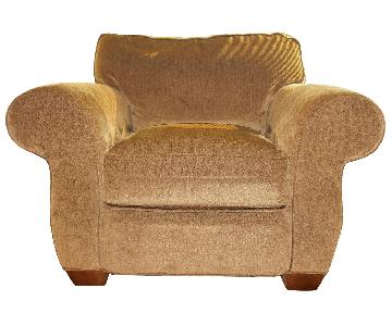 Lee Industries Handcrafted Armchair & Ottoman