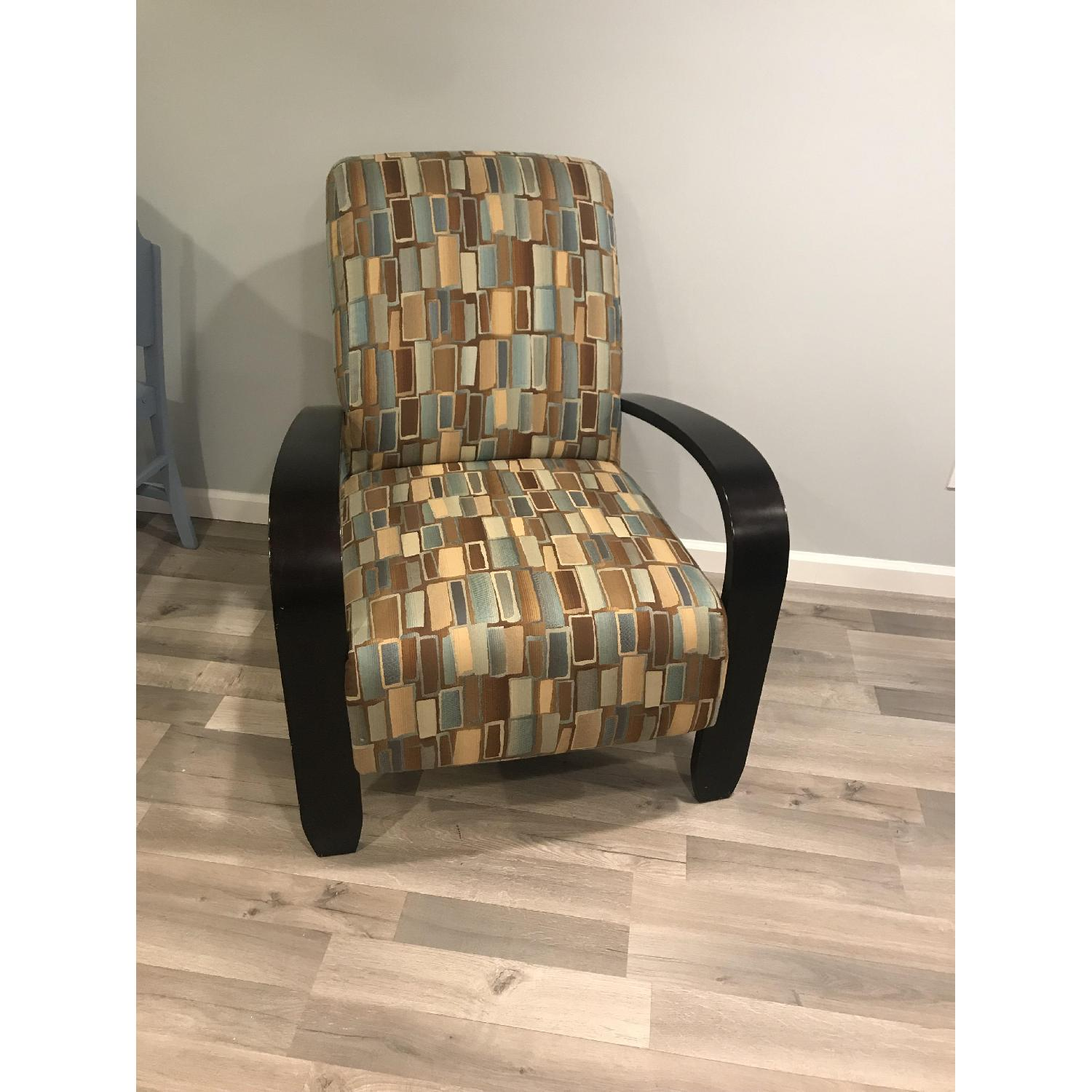 Wood & Fabric Upholstered Chairs - image-1