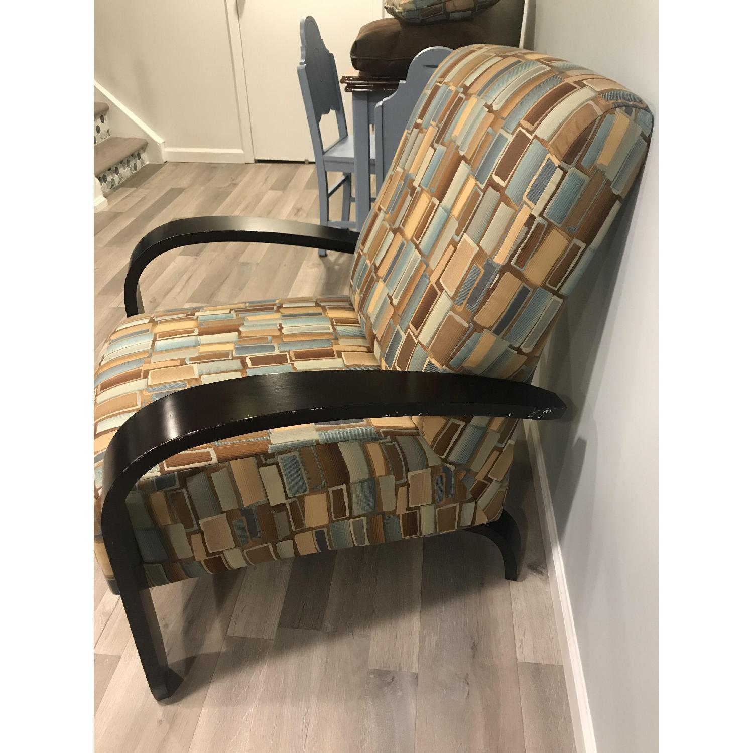 Wood & Fabric Upholstered Chairs - image-3