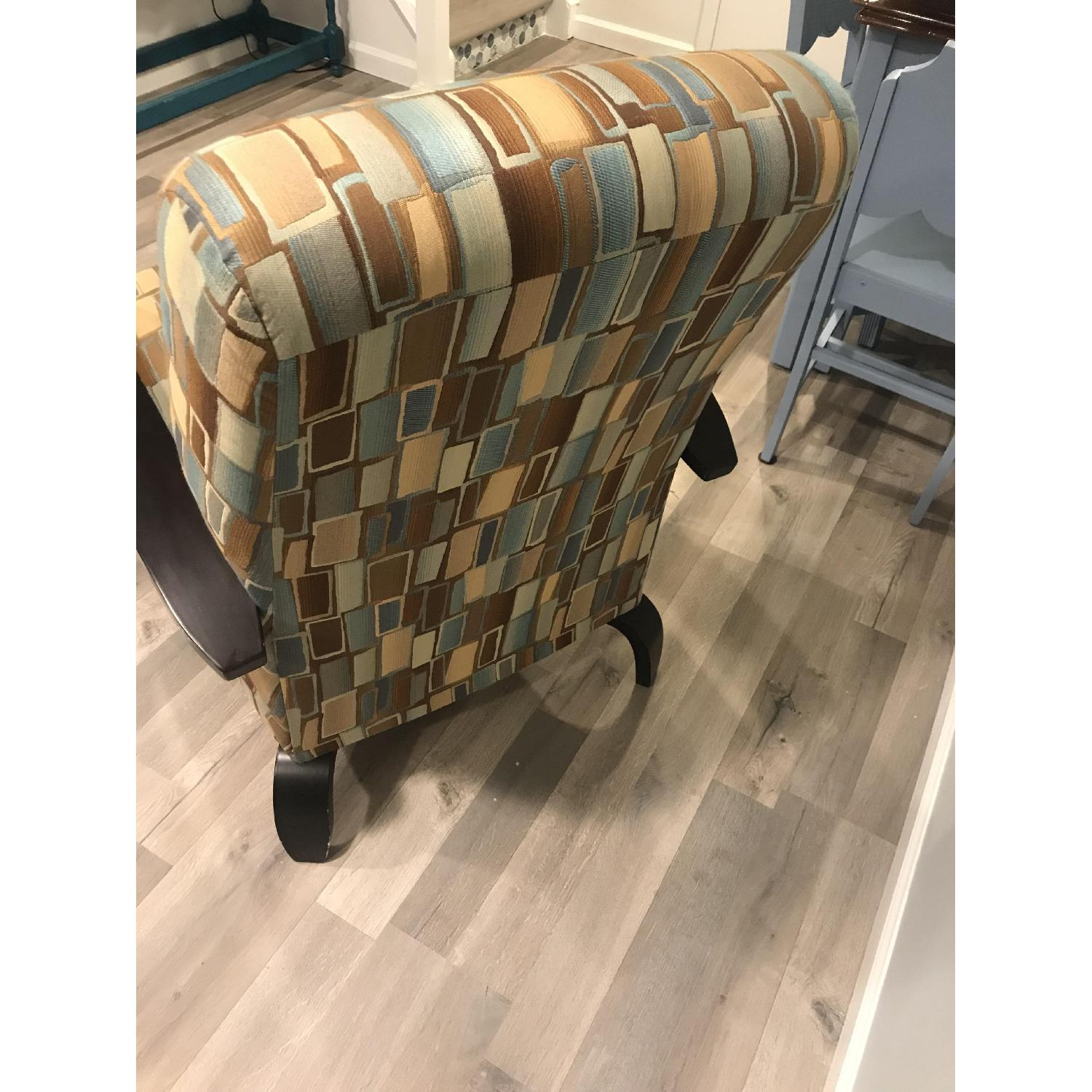 Wood & Fabric Upholstered Chairs - image-4