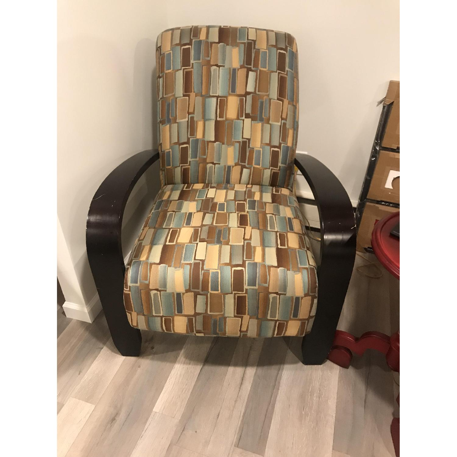 Wood & Fabric Upholstered Chairs - image-5