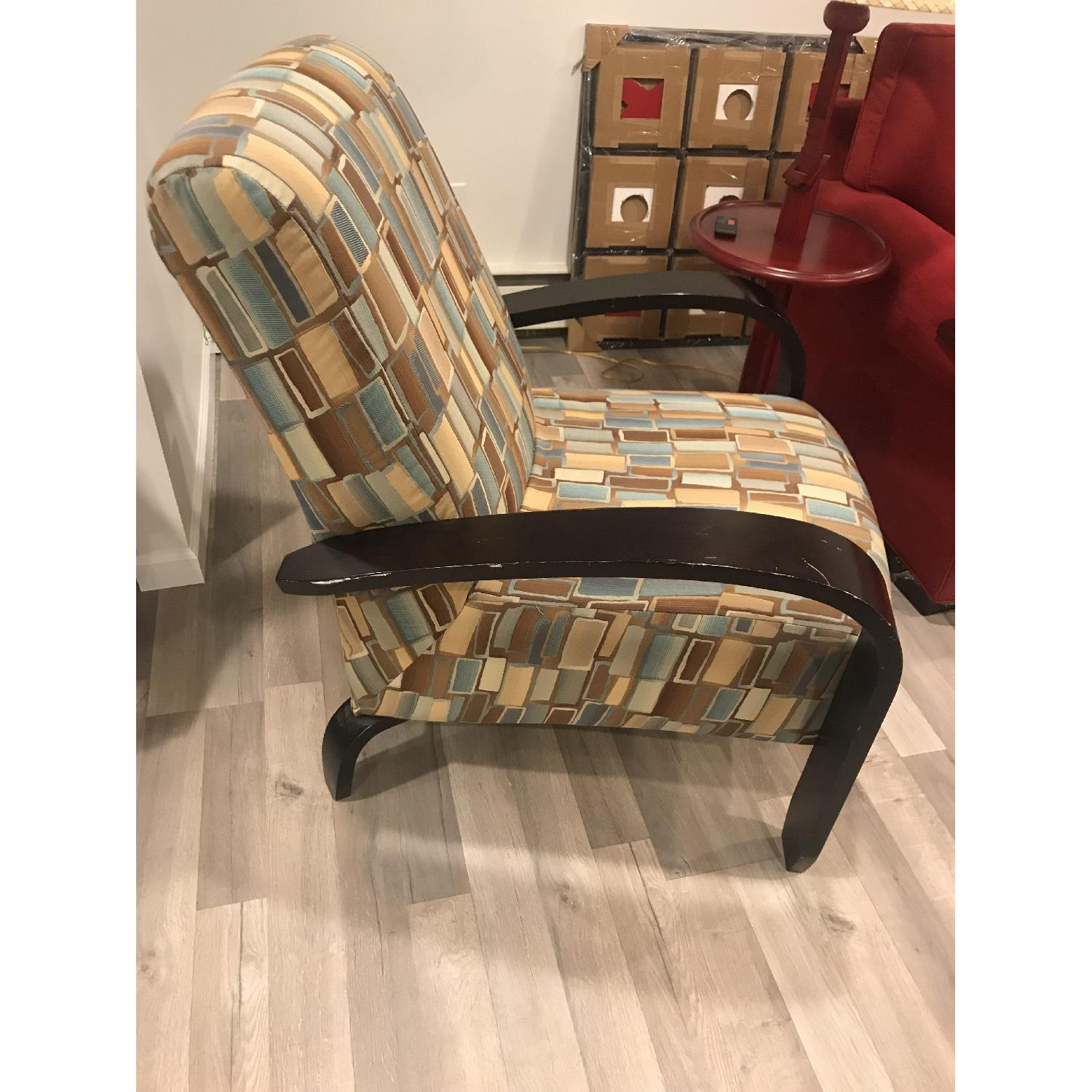 Wood & Fabric Upholstered Chairs - image-6