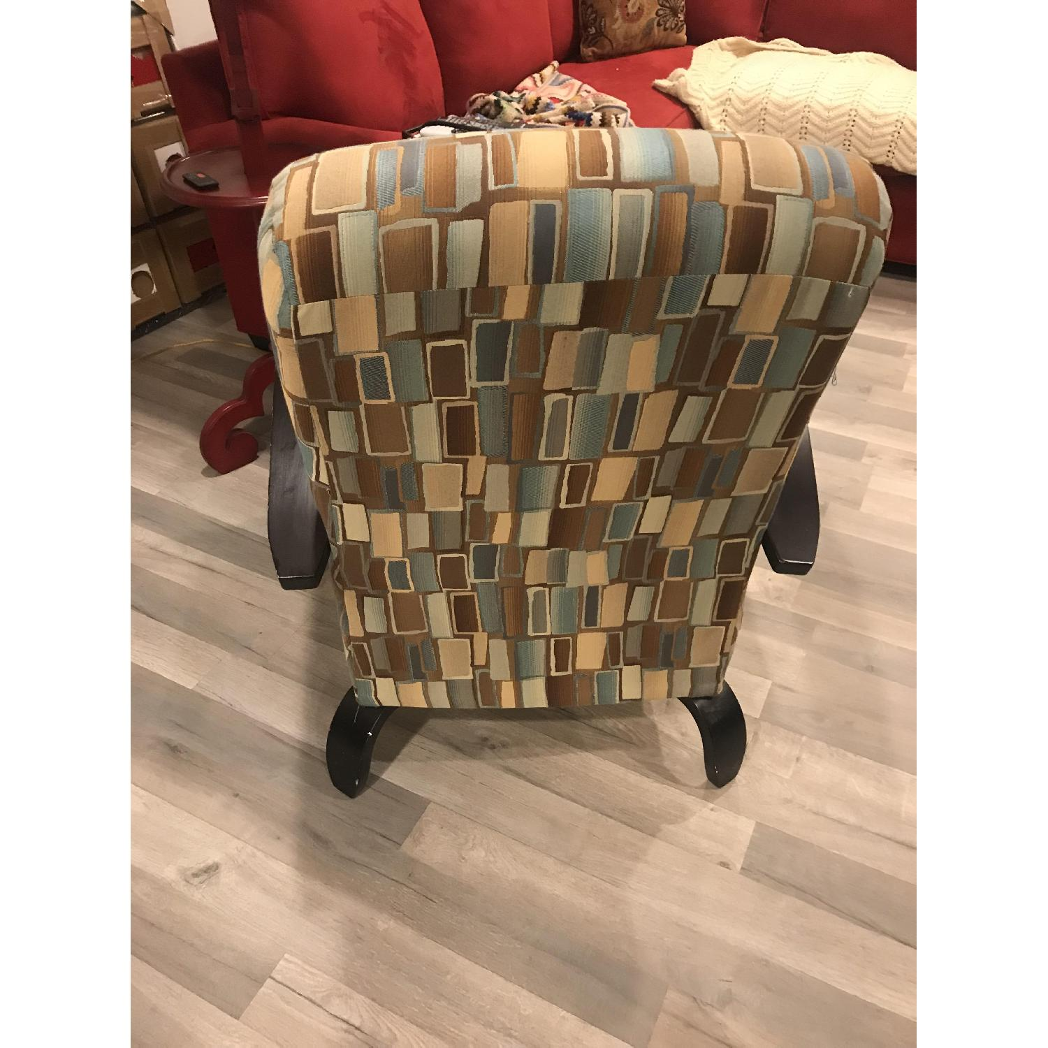 Wood & Fabric Upholstered Chairs - image-7