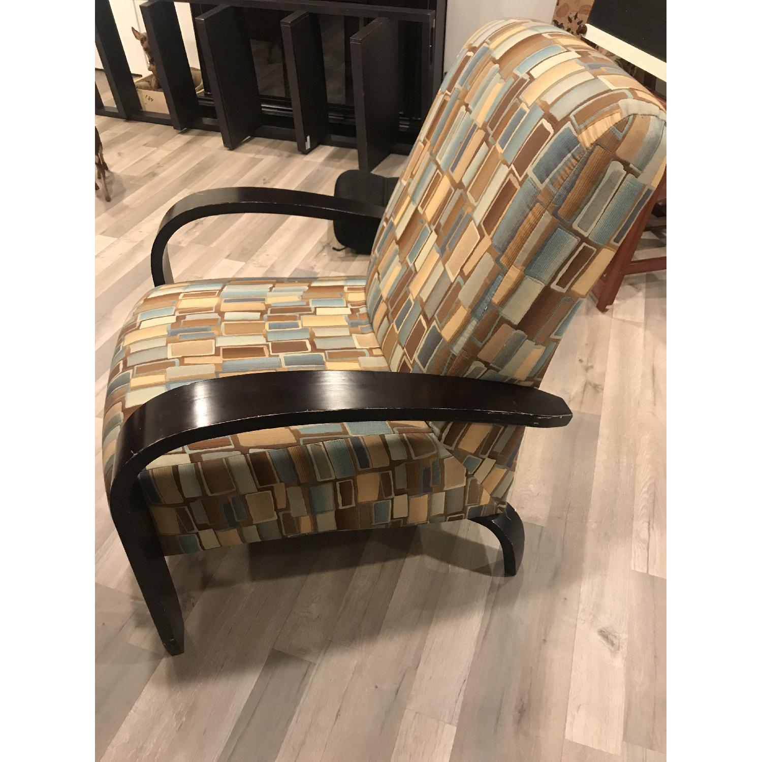 Wood & Fabric Upholstered Chairs - image-8