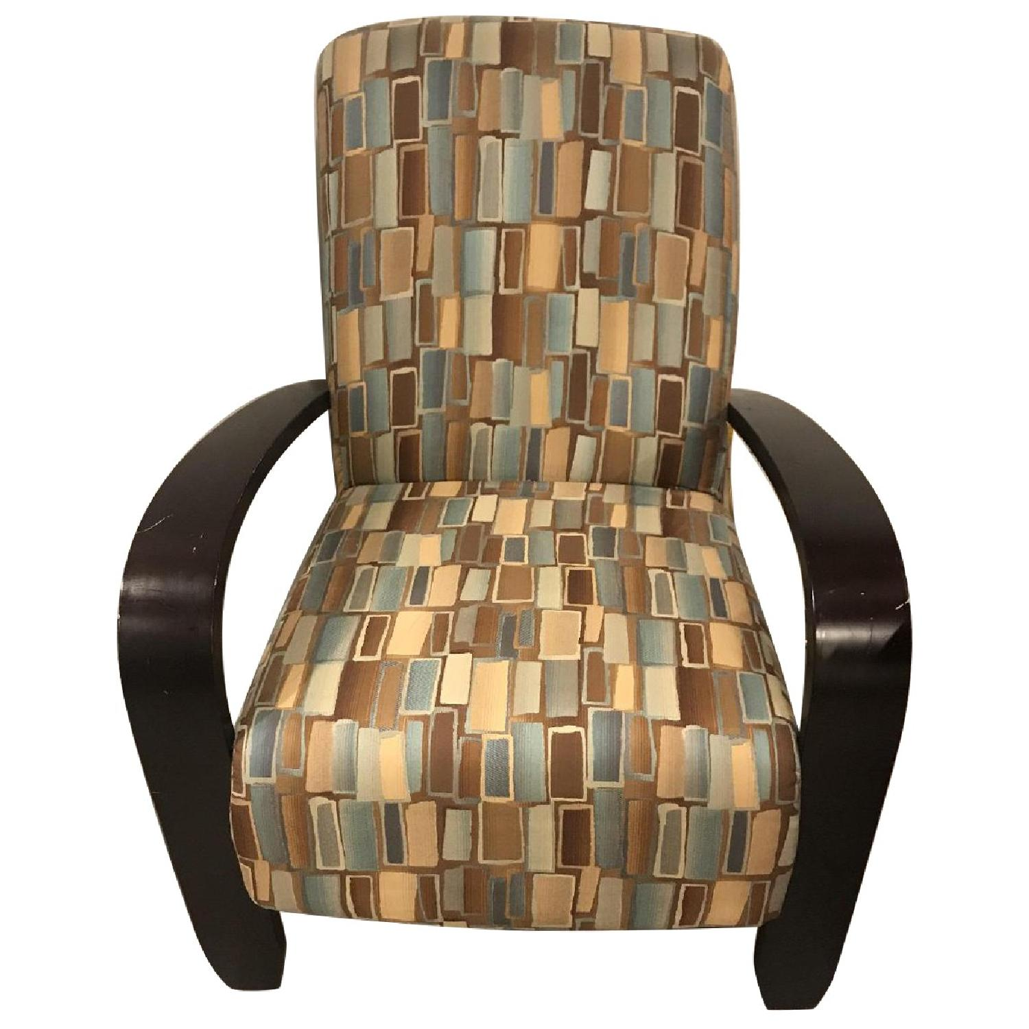 Wood & Fabric Upholstered Chairs - image-0