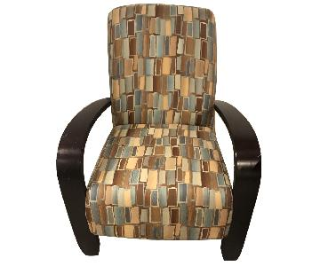 Wood & Fabric Upholstered Chairs