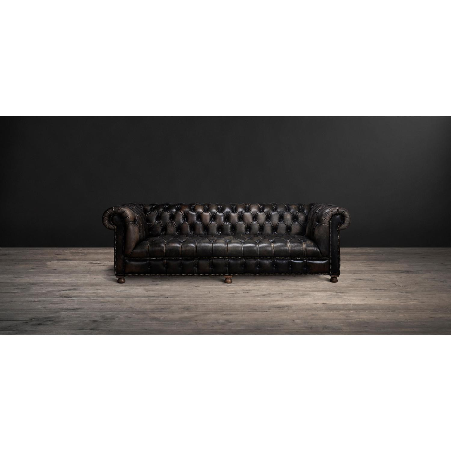 Timothy Oulton Westminster Leather Tufted Sofa - image-6