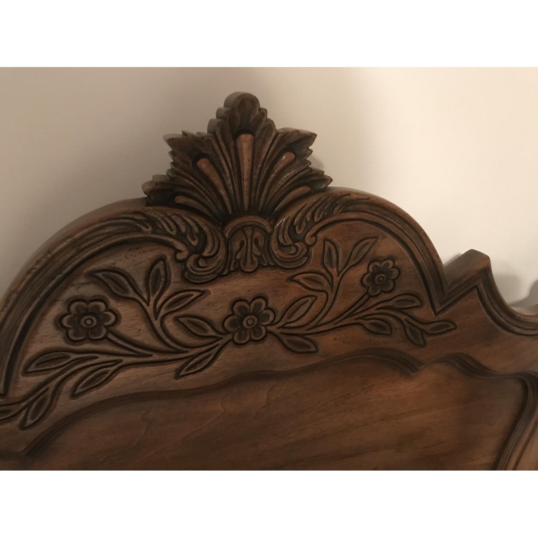Karges Walnut Carved Headboard