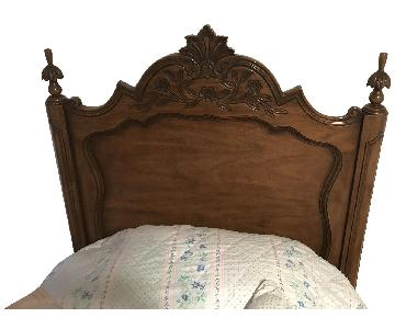 Karges Walnut Carved Headboard