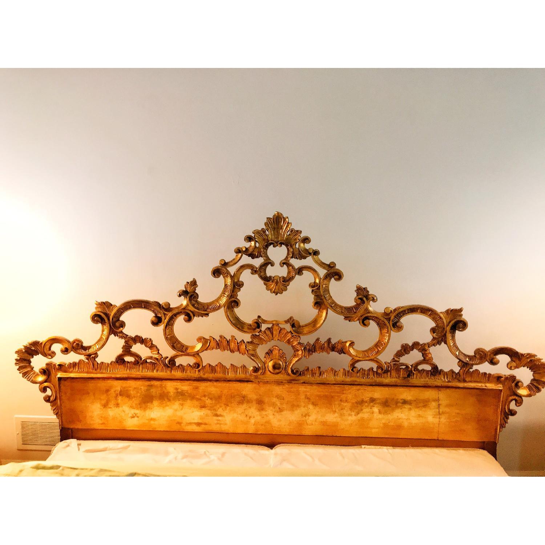 Karges King Giltwood Carved headboard - image-3
