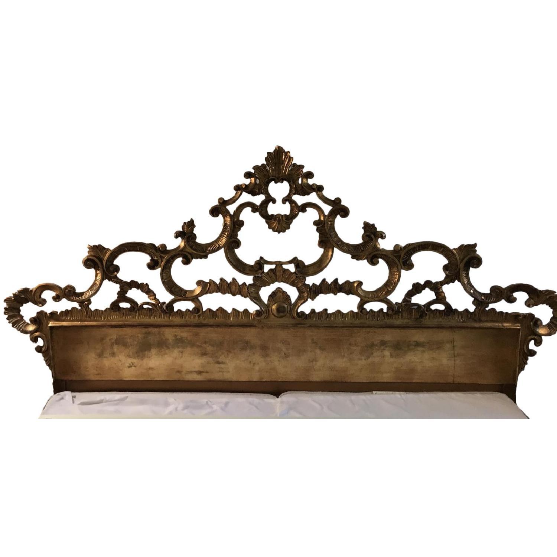 Karges King Giltwood Carved headboard - image-0