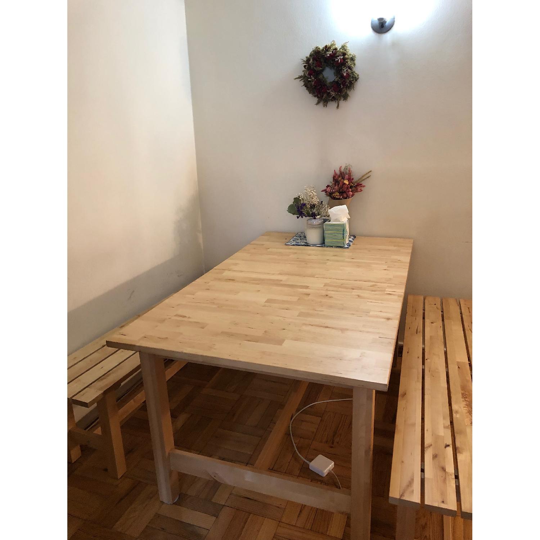 Ikea Norden Extendable Dining Table W 2 Picnic Benches Aptdeco