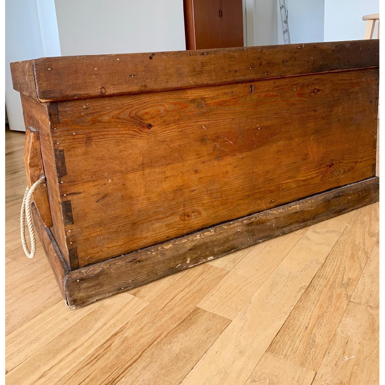 Antique Wood Trunk - image-2