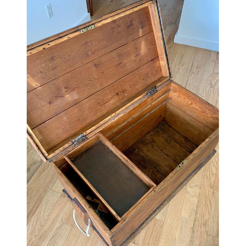 Antique Wood Trunk - image-3