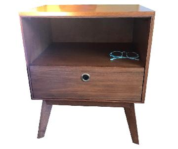 West Elm Mid Century Nightstand in Acorn