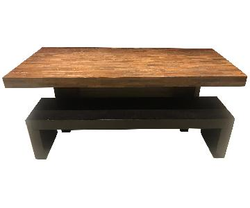 Environment Furniture Reclaimed Wood Table w/ 2 Benches