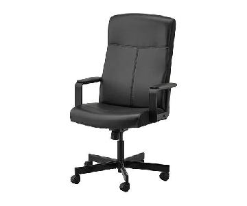 Ikea Millberget Black Office Swivel Chair