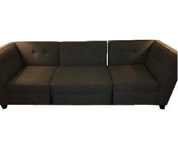 Macy's Modular 3 Piece Sectional Sofa